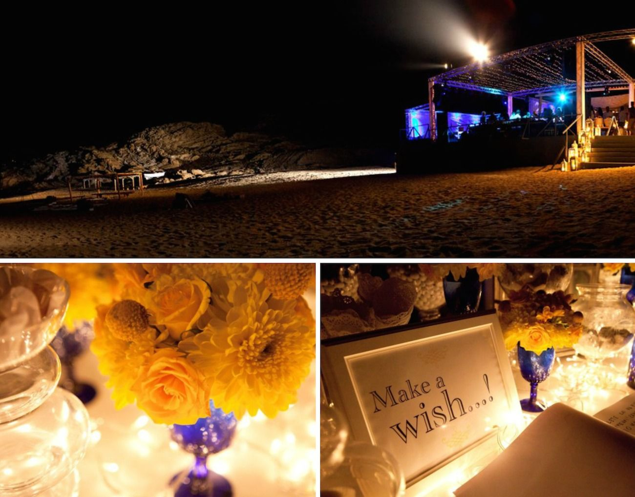 brazilian wedding mykonos-blue and yellow wedding decoration 19