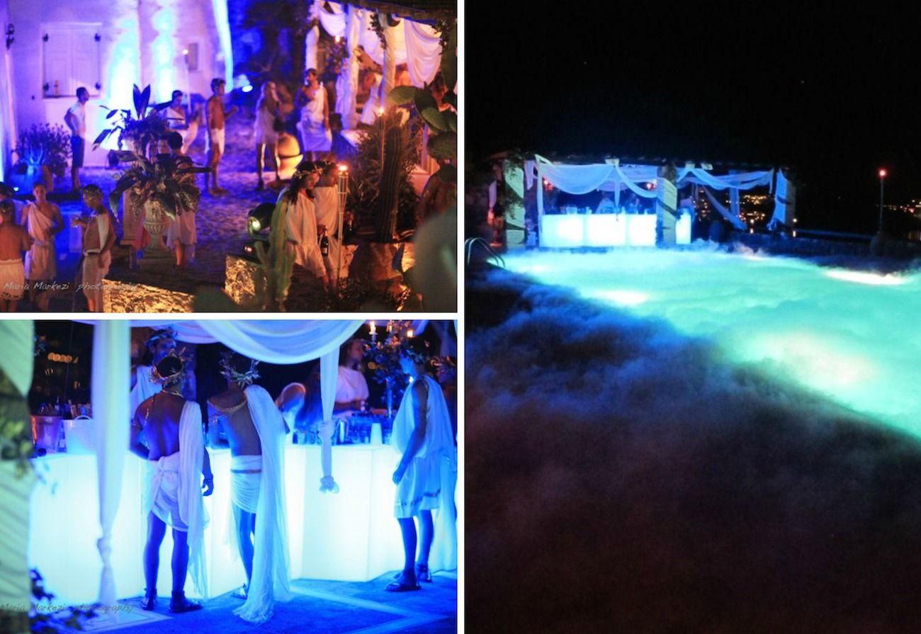 dsquared party mykonos-greek roman deco 26