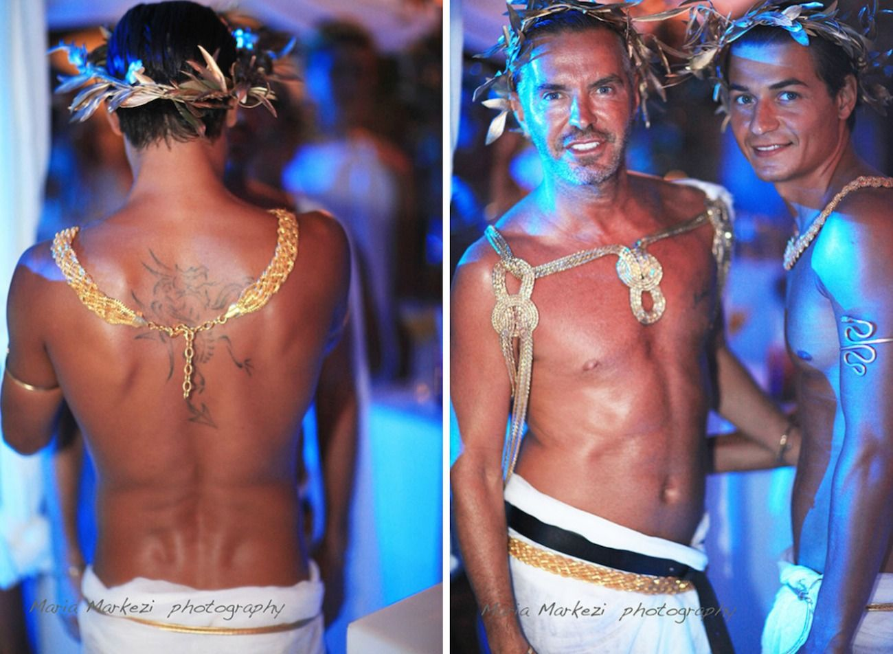 dsquared party mykonos-greek roman deco 27