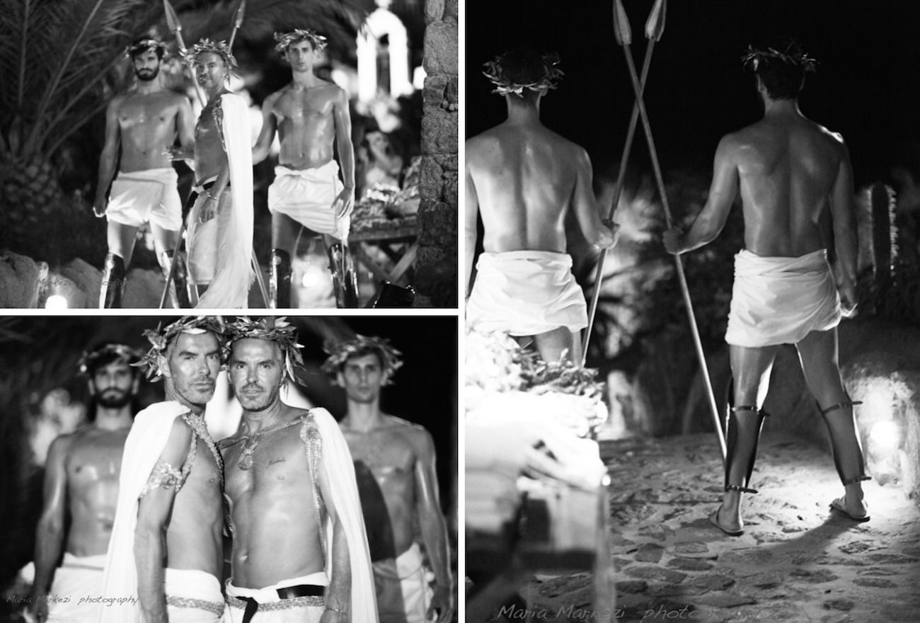 dsquared party mykonos-greek roman deco 28