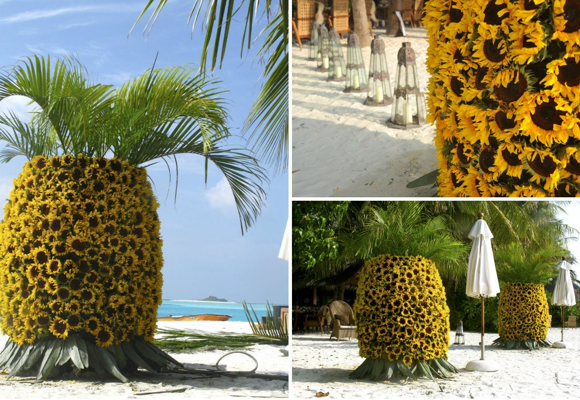 jungle themed wedding event maldives 5