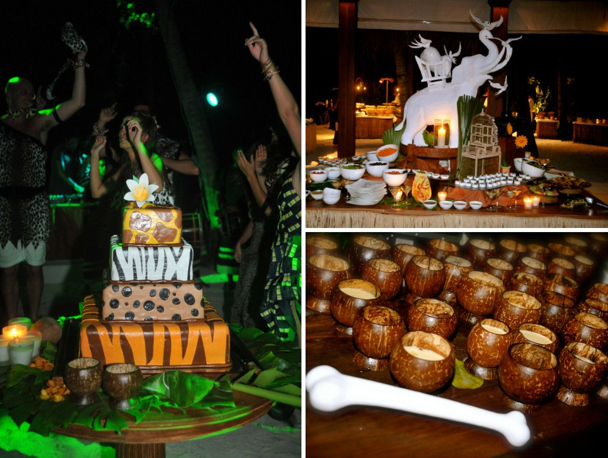 jungle themed wedding event maldives 7