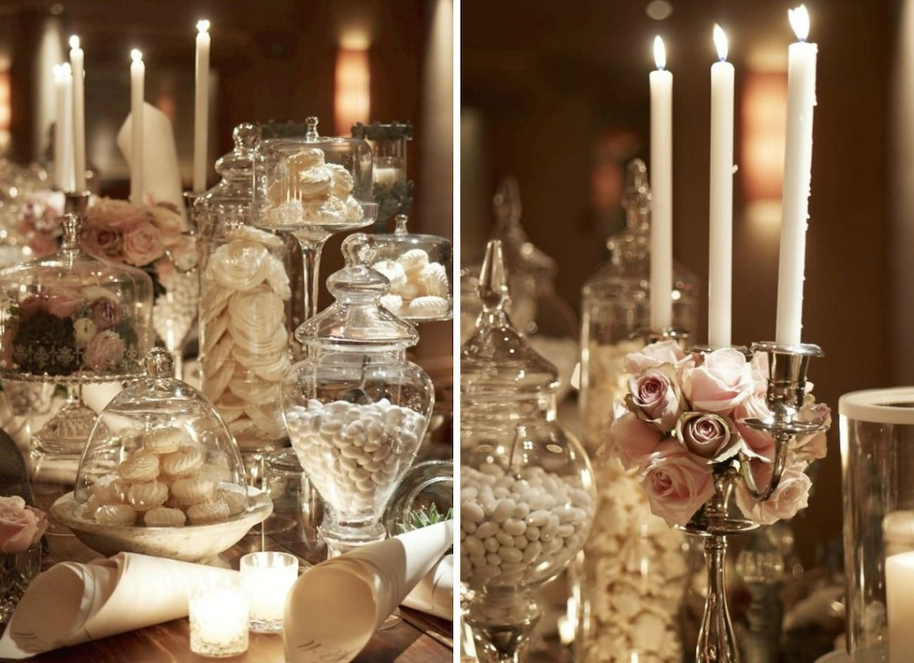 romantic vintage wedding- christmas wedding decoration-parisian style 11