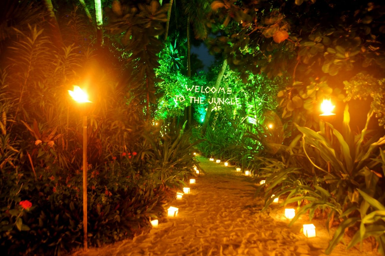 wedding in maldives-jungle theme- 2link events 2