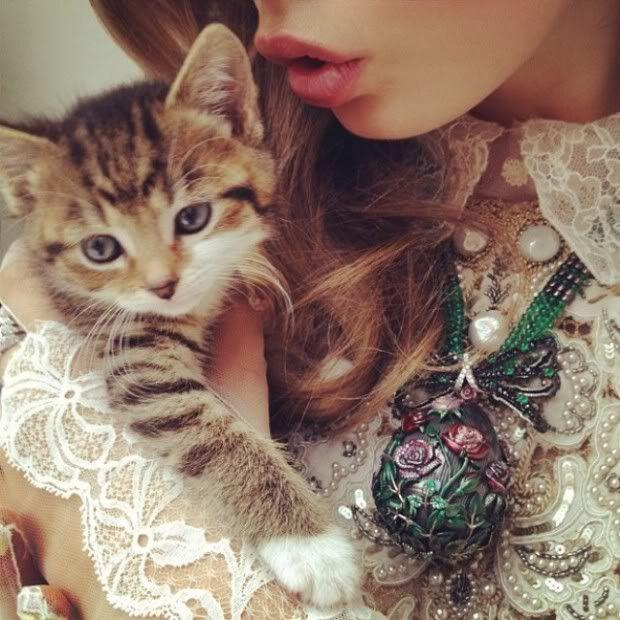 nick knight-cara delevigne-couture-kitten
