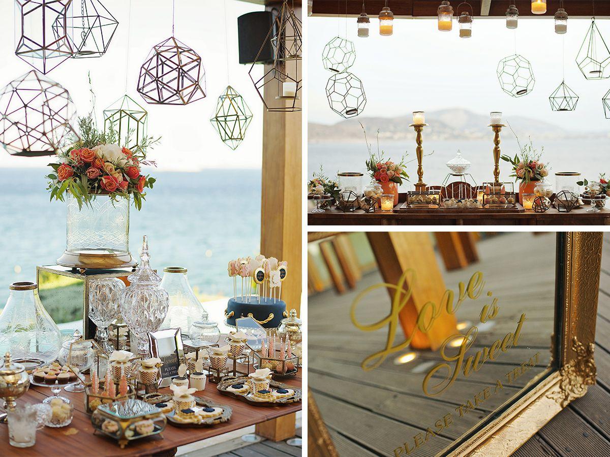 vintage_nautical_wedding_athens_blue_gold_flowers_dessert_table_candles_deplanv