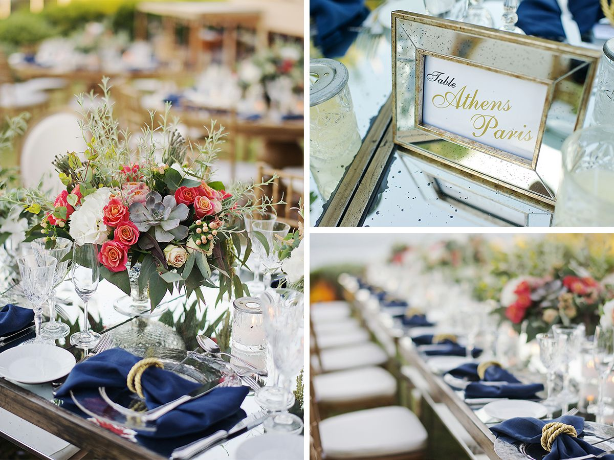 vintage_nautical_wedding_athens_blue_gold_coral_dinner_area_table_numbers_deplanv