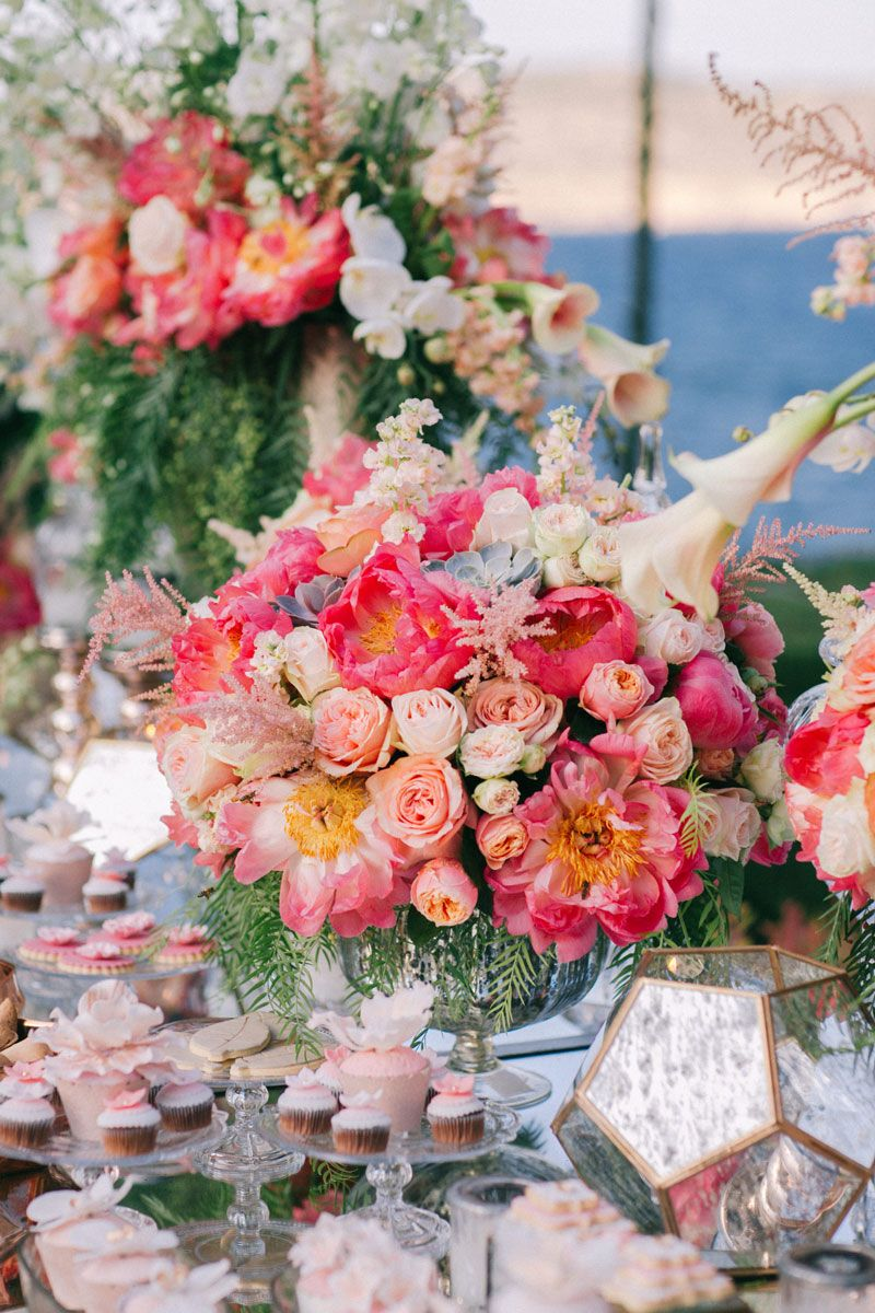 Colorful Floral Luxury Wedding on Island Athens Riviera